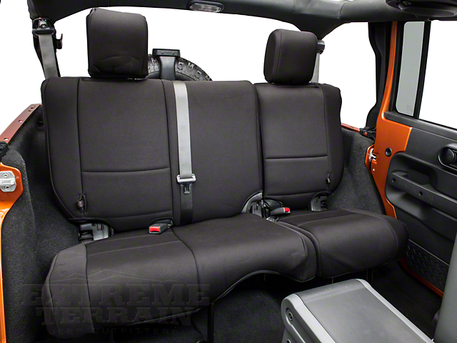 Rugged Ridge Neoprene Rear Seat Cover; Black (07-18 Jeep Wrangler JK 4 Door)