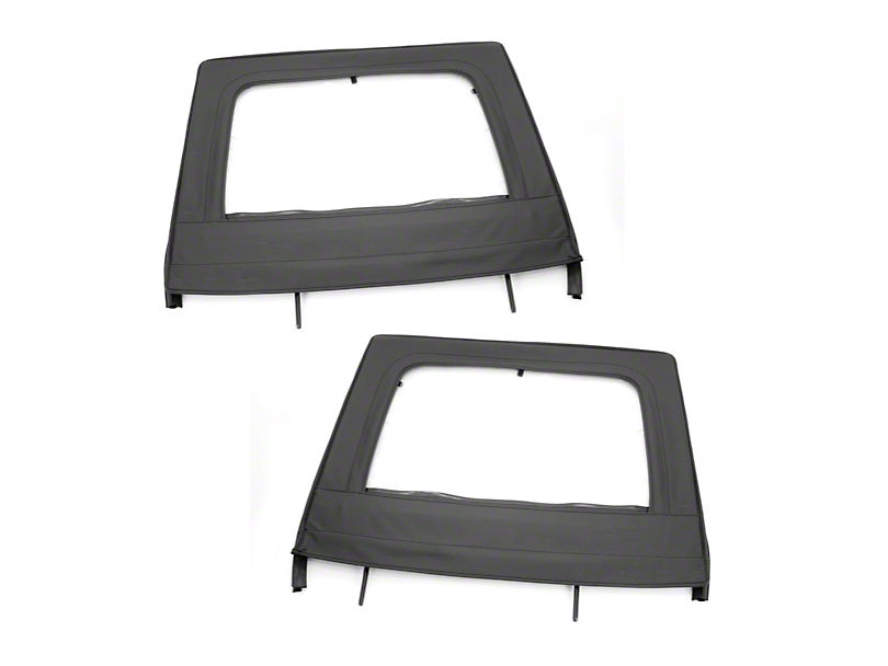 Rugged Ridge Black Rear Upper Soft Doors - Pair (07-18 Jeep Wrangler JK)