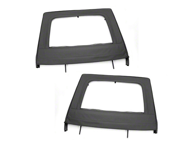 Rugged Ridge Black Rear Upper Soft Doors - Pair (07-18 Wrangler JK)