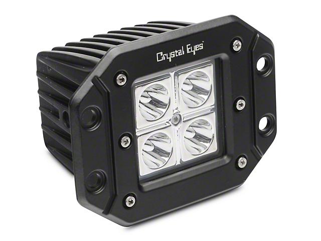 5-Inch Work Flush Mount LED Cube Light; 30 Degree Flood Beam
