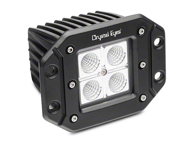 5 Inch Work Flush Mount LED Cube Light; 60 Degree Flood Beam