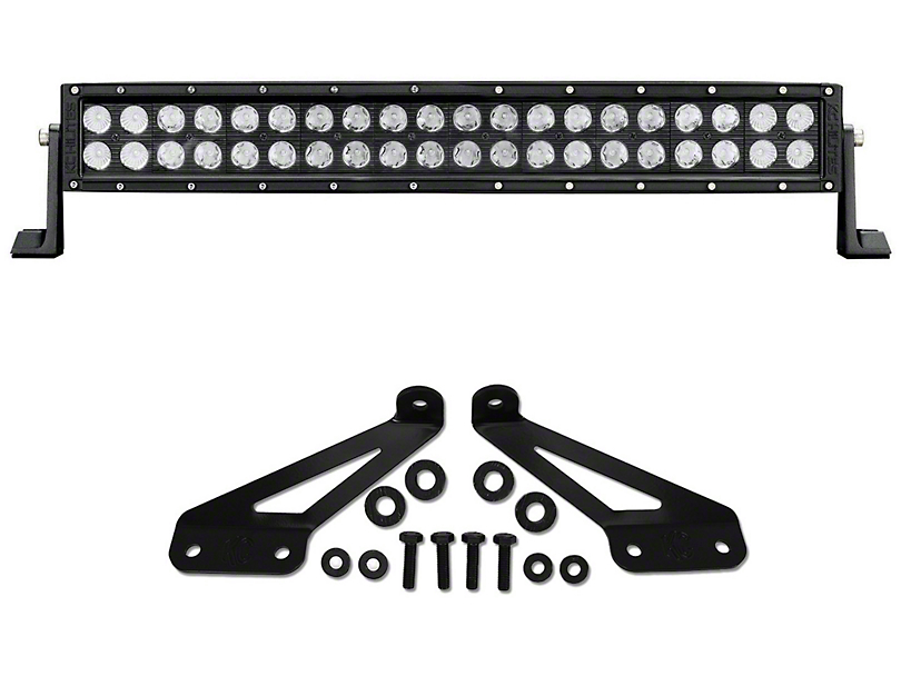 KC HiLiTES 20 in. C-Series C20 LED Light Bar w/ Hood Mounting Brackets (07-19 Jeep Wrangler JK & JL)