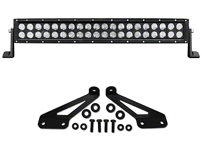 KC HiLiTES 20 in. C-Series C20 LED Light Bar w/ Hood Mounting Brackets (07-18 Jeep Wrangler JK; 2018 Jeep Wrangler JL)