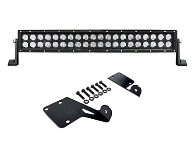 KC HiLiTES 20 in. C-Series C20 LED Light Bar w/ Hood Mounting Brackets (97-06 Jeep Wrangler TJ)