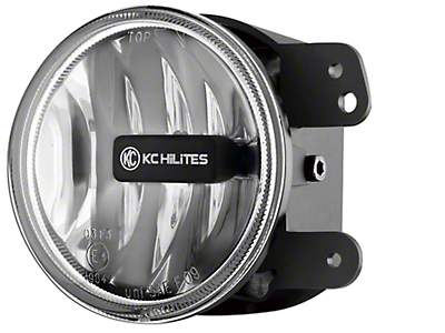 KC HiLiTES 4 in. Gravity G4 Amber LED Replacement Fog Light (10-18 Jeep Wrangler JK; 2018 Jeep Wrangler JL)