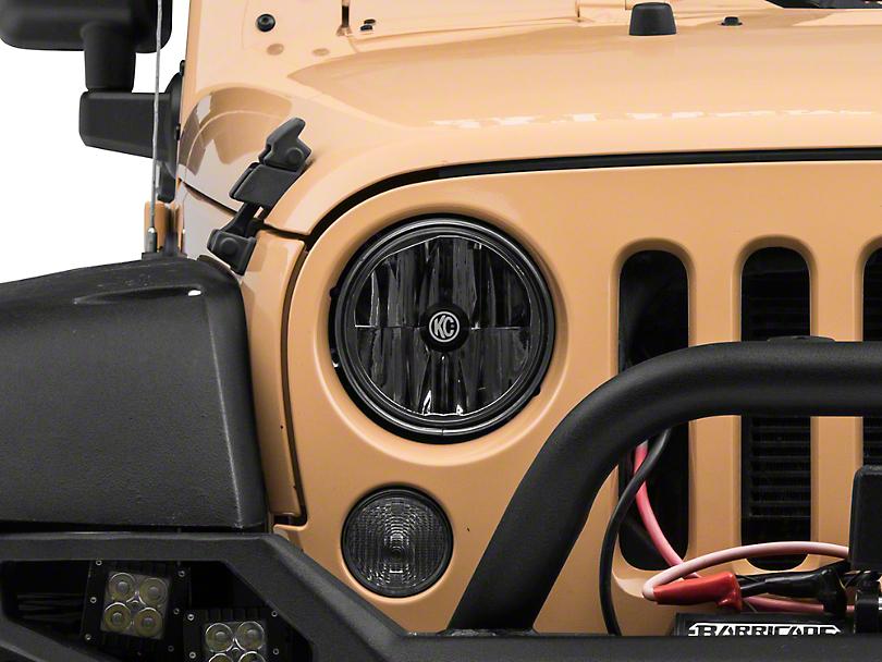 KC HiLiTES 7 in. Gravity LED Headlight (07-18 Jeep Wrangler JK)