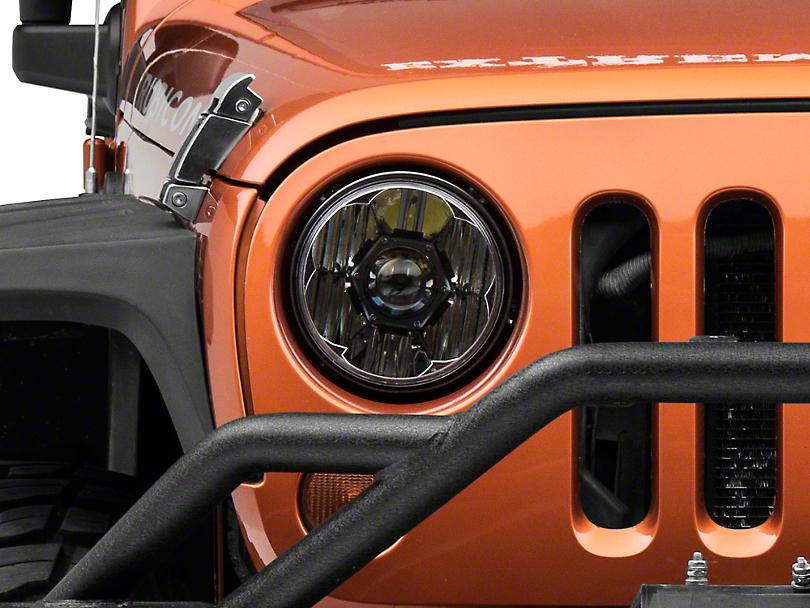 KC HiLiTES 7 in. Gravity Pro LED Headlight (07-18 Jeep Wrangler JK)