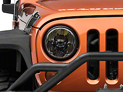 Recon Jeep Wrangler Smoked Led Projector Headlights