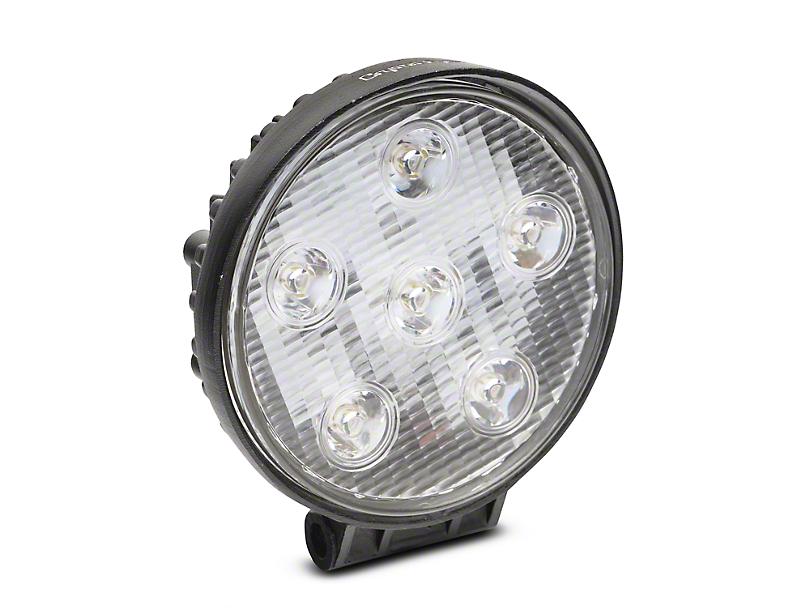 Alteon 4 in. Work Visor 6 LED Round Light - 30 Degree Flood Beam