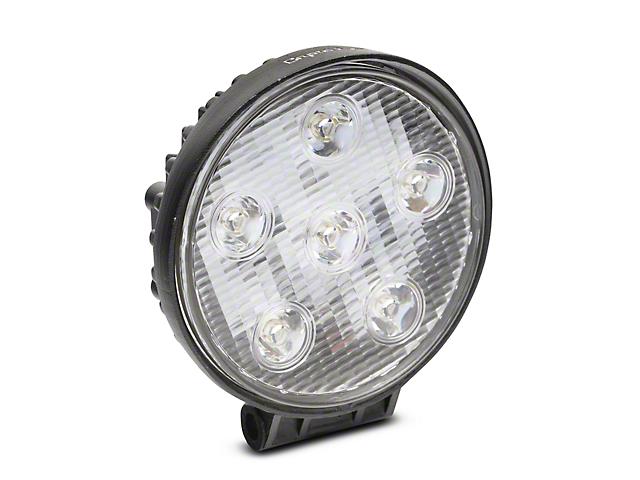 4 Inch Work Visor 6 LED Round Light; 30 Degree Flood Beam