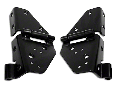 Vintage Windshield Hinges - Black (87-95 Wrangler YJ)