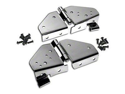 RT Off-Road Windshield Hinges - Stainless (87-95 Wrangler YJ)