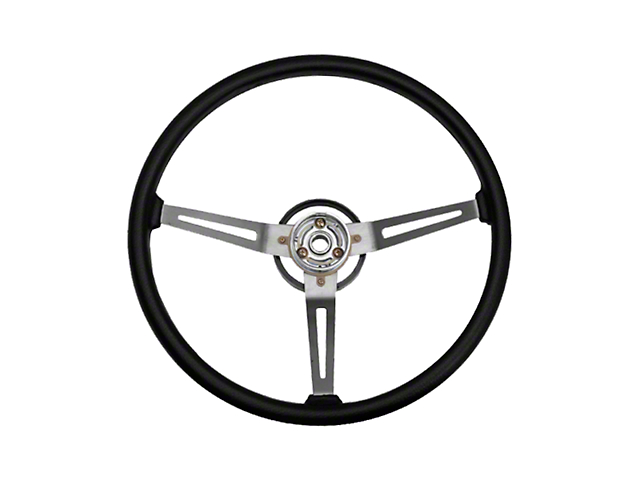 Omix-ADA Sport Steering Wheel w/ 3 Metal Spoke Design - Black (87-95 Jeep Wrangler YJ)