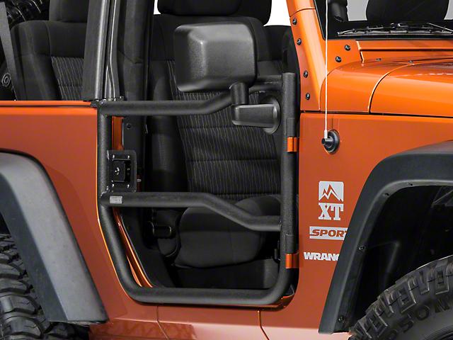Rugged Ridge Black Textured Front Tube Doors - Pair (07-18 Jeep Wrangler JK)