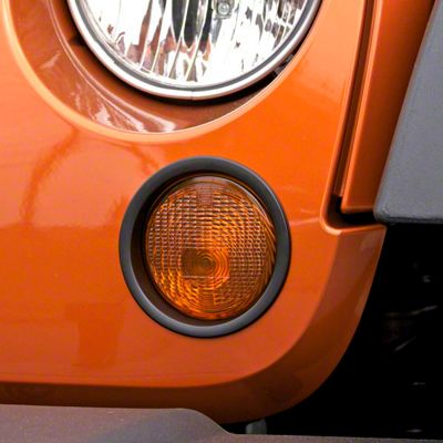 Add Rugged Ridge Black Turn Signal Lamp Trim (07-17 Wrangler JK)