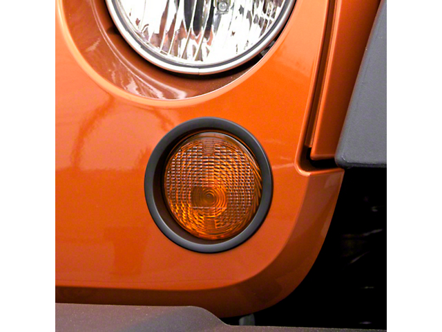 Rugged Ridge Black Turn Signal Lamp Trim (07-17 Wrangler JK)