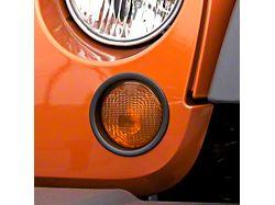 Rugged Ridge Black Turn Signal Lamp Trim (07-18 Jeep Wrangler JK)