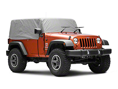 RT Off-Road Cab Cover - Gray (07-18 Jeep Wrangler JK 2 Door)