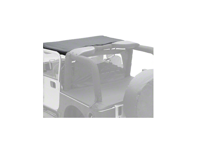 Smittybilt Vinyl Standard Brief Top - Black (87-91 Jeep Wrangler YJ)