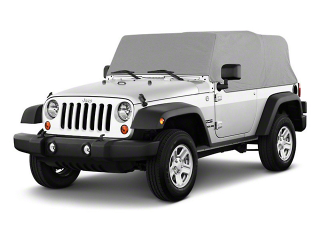 Cab Cover; Gray (92-06 Jeep Wrangler YJ & TJ, Excluding Unlimited)