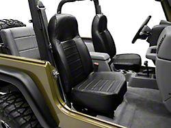 Smittybilt Standard Front Bucket Seat; Black Vinyl (87-06 Jeep Wrangler YJ & TJ)