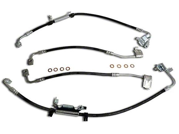 Crown Automotive Front & Rear Brake Hose Kit (11-18 Jeep Wrangler JK)