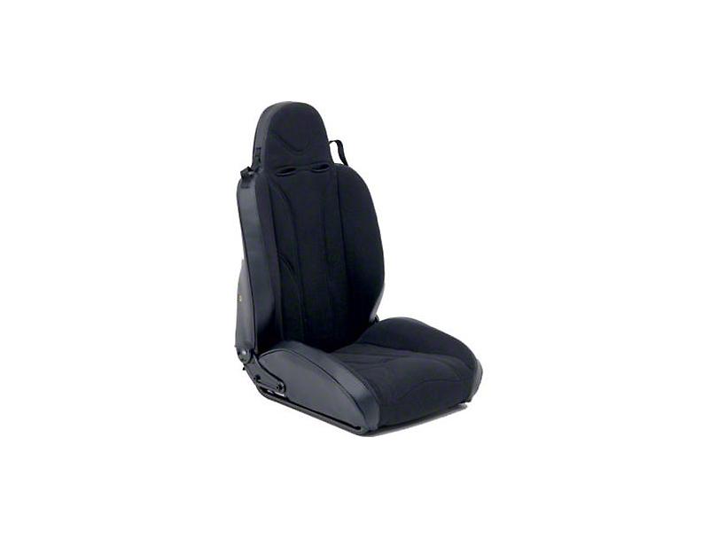 Smittybilt Passenger Side XRC Racing Style Recliner Seat - Black (87-06 Jeep Wrangler YJ & TJ)