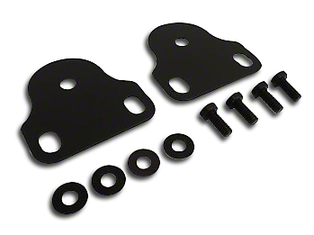 RT Off-Road Interior Windshield Mount Brackets - Black (87-95 Jeep Wrangler YJ)