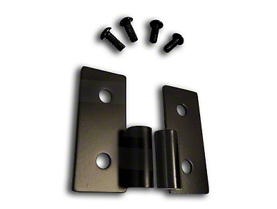 RT Off-Road Lower Door Hinge Bracket Set - Black Stainless (87-06 Jeep Wrangler YJ & TJ)