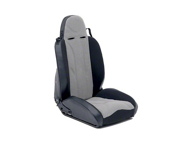 Smittybilt Driver Side XRC Racing Style Recliner Seat - Black/Gray (87-06 Jeep Wrangler YJ & TJ)