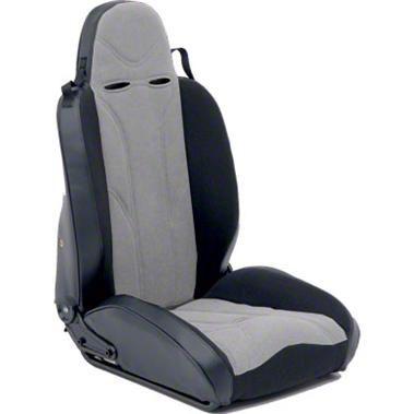 Smittybilt Passenger Side XRC Racing Style Recliner Seat - Black/Gray (87-06 Jeep Wrangler YJ & TJ)