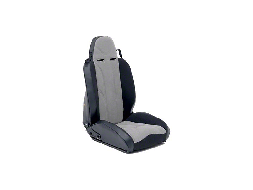 Smittybilt Passenger Side XRC Racing Style Recliner Seat - Black/Gray (87-06 Jeep Wrangler YJ & TJ)