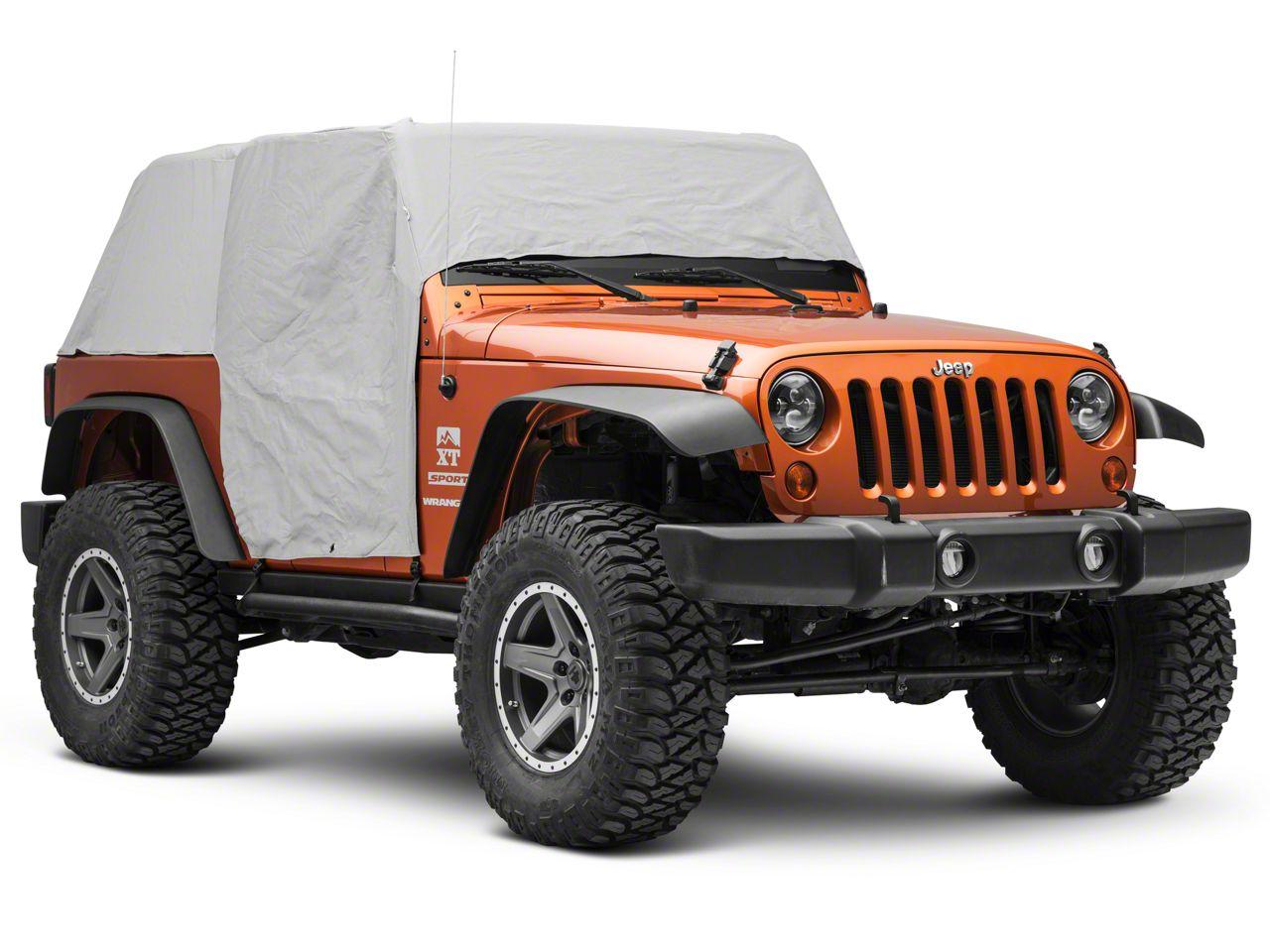 Jeep Wrangler JK 4-türer Full Car Cover Abdeckung Vollgarage Grau 07-18