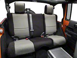 Rugged Ridge Neoprene Rear Seat Cover; Black/Gray (07-18 Jeep Wrangler JK 4 Door)
