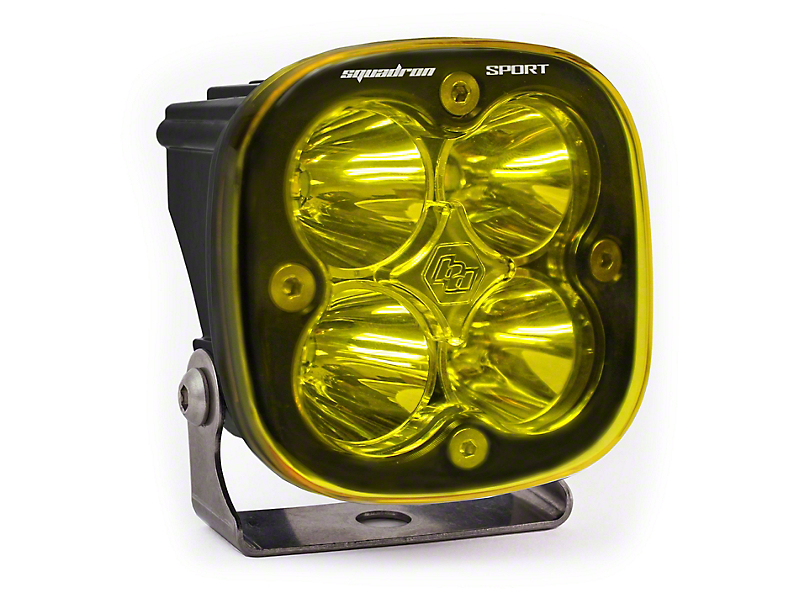 Baja Designs Squadron Sport Amber LED Light - Flood/Work Beam
