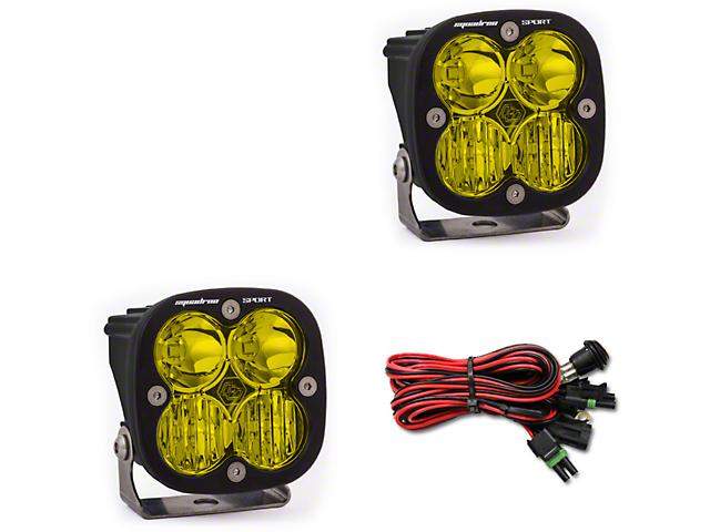 Baja Designs Squadron Sport Amber LED Light - Driving/Combo Beam - Pair