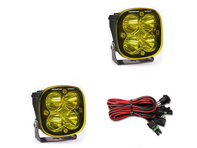 Baja Designs Squadron Sport Amber LED Light - Spot Beam - Pair