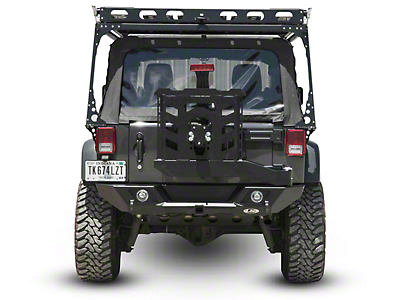 LoD Offroad Destroyer Full-Width Rear Bumper w/ Tire Carrier - Bare Steel (07-18 Wrangler JK)