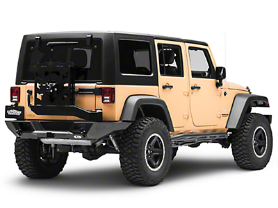 LoD Offroad Destroyer Full-Width Rear Bumper w/ Tire Carrier - Textured Black (07-18 Wrangler JK)