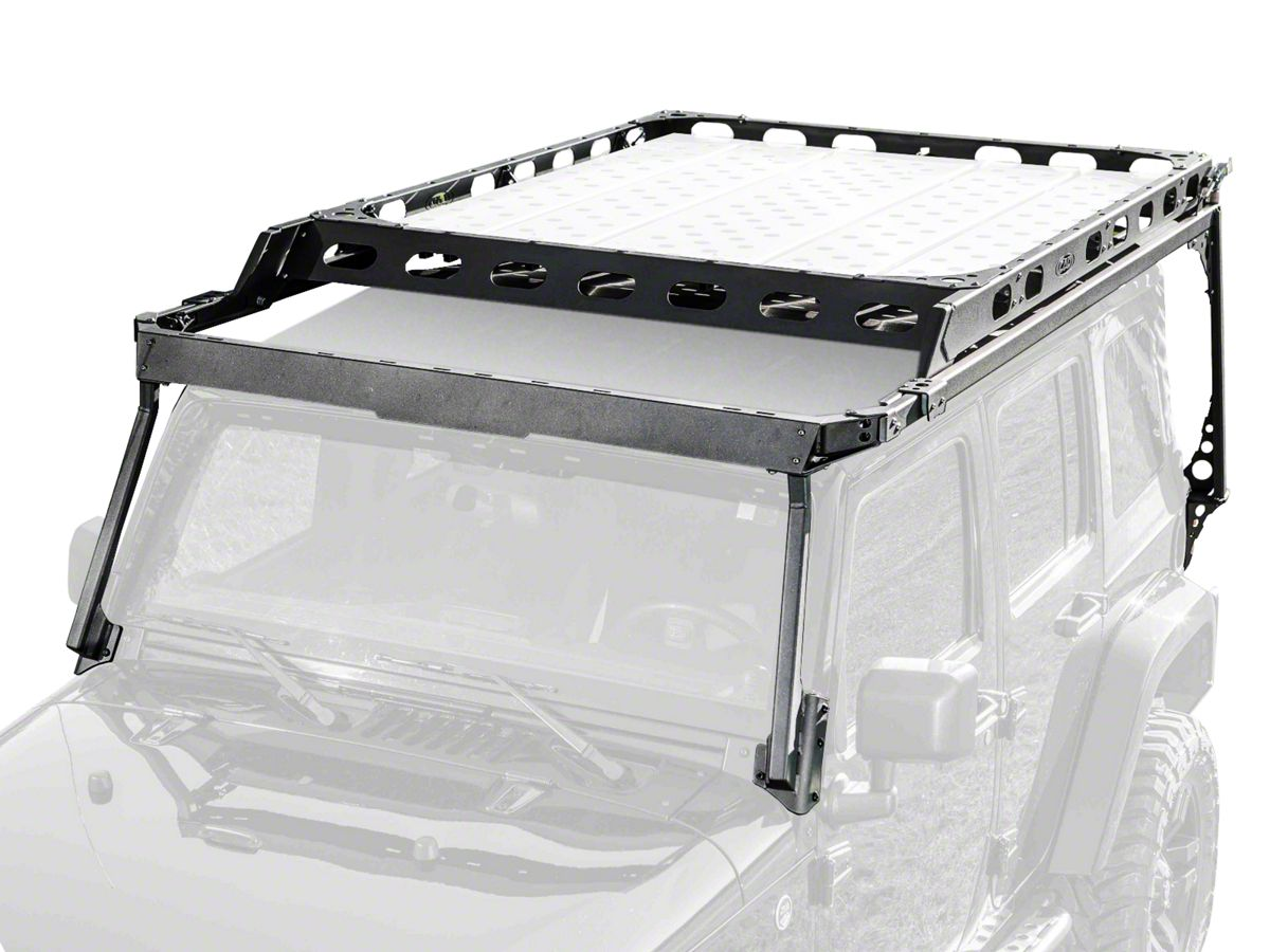 Lod Offroad Wrangler Sliding Roof Rack Textured Black Jrr0741 07 18 Jeep Wrangler Jk 4 Door Free Shipping
