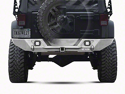 LoD Offroad Destroyer Full-Width Rear Bumper - Bare Steel (07-18 Wrangler JK)