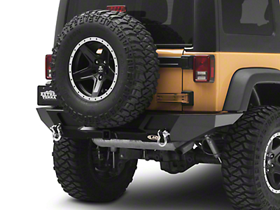 LoD Offroad Destroyer Full-Width Rear Bumper - Textured Black (07-18 Wrangler JK)