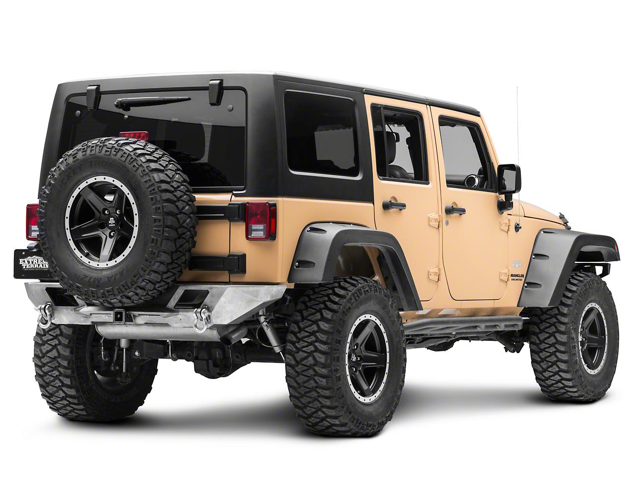 LoD Offroad Destroyer Shorty Rear Bumper - Bare Steel (07-18 Jeep Wrangler JK)