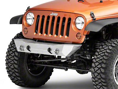 LoD Offroad Destroyer Shorty Front Bumper - Bare Steel (07-18 Jeep Wrangler JK)