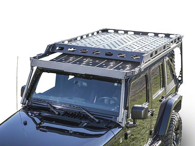 LoD Offroad Easy Access Sliding Roof Rack Open Assist Retractable Handle    Bare Steel (07 18 Wrangler JK)
