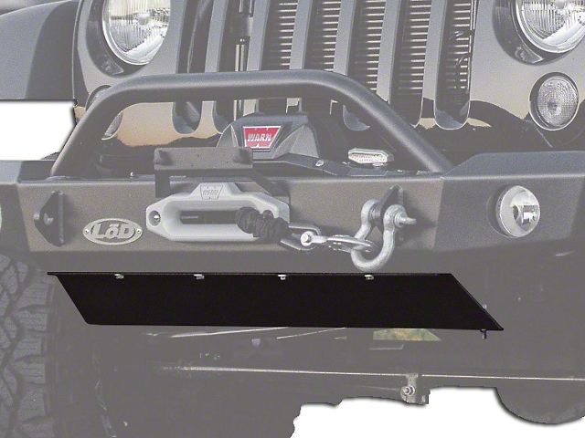 LoD Offroad Signature Series Full/Crawler/Mid-Width Bolt-On Skid Plate - Bare Steel (07-18 Jeep Wrangler JK)