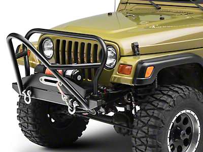 LoD Offroad Competition Series Front Winch Bumper - Textured Black (97-06 Wrangler TJ)