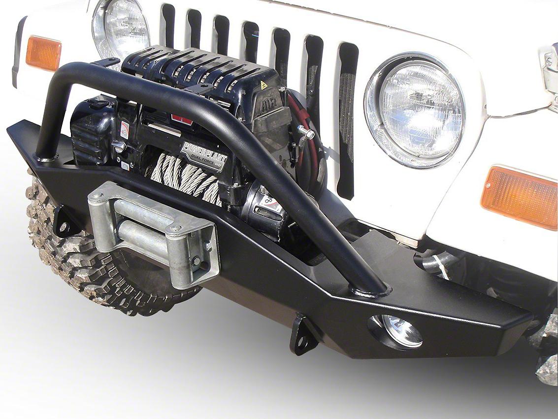 LoD Offroad Signature Series Full Width Front Bumper w/ Bull Bar - Textured Black (97-06 Wrangler TJ)