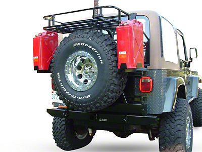LoD Offroad Xpedition Series Jerry Can Mounts - Bare Steel (87-06 Wrangler YJ & TJ)