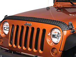 Rugged Ridge Body Armor Hood Stone Guard - Black (07-18 Jeep Wrangler JK)
